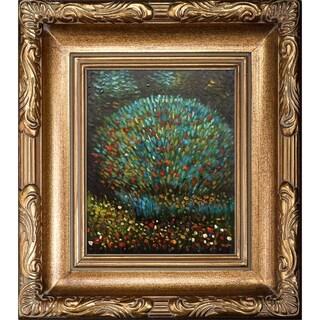 Gustav Klimt 'Apple Tree I' Hand-painted Framed Canvas Art