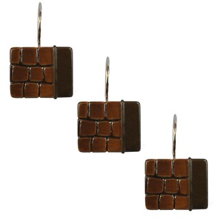 Sherry Kline It's a Croc Cocoa Shower Curtain Hooks (Set of 12)