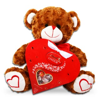 Alder Creek Valentine Bear And Chocolate Heart Gift Box