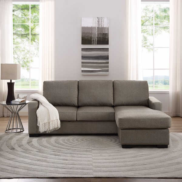 The Hom Colton Linen Sectional Sofa With Reversible Chaise
