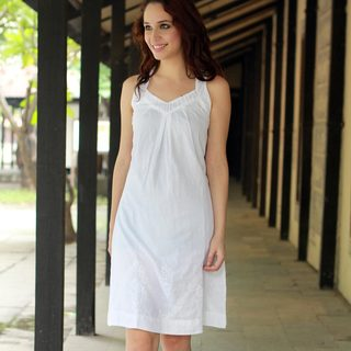 Handmade Cotton 'Lucknow Lady' Sundress (India)
