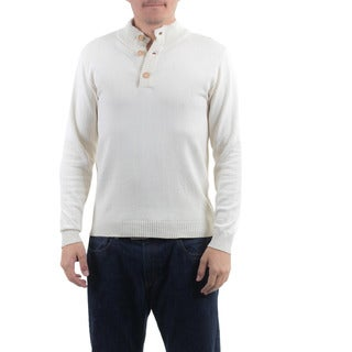 Handmade Men's Cotton 'Ivory Comfort' Sweater (Guatemala)