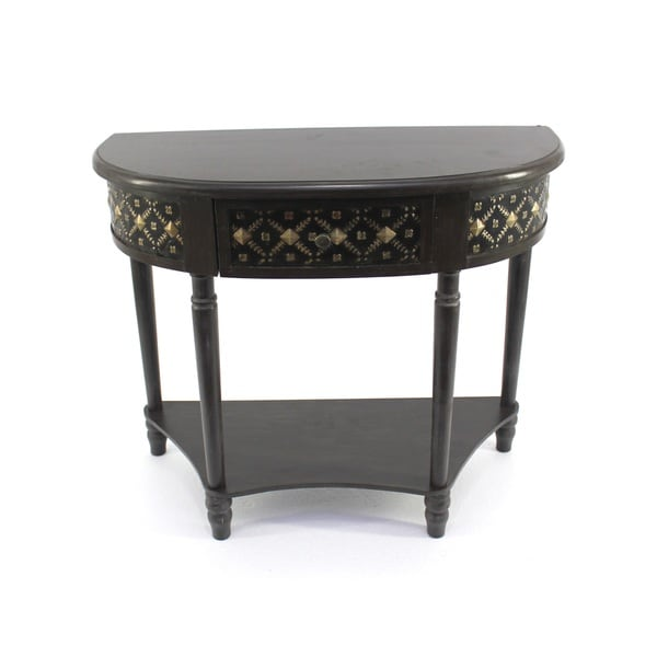shop half moon side table free shipping today overstock 9740574. Black Bedroom Furniture Sets. Home Design Ideas
