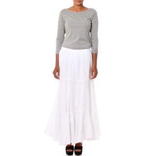 Handmade Cotton 'Lucknow Princess' Long Skirt (India)