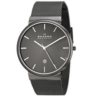 Skagen 'Ancher' Men's Gunmetal Ion Plated Stainless Steel SKW6108 Watch|https://ak1.ostkcdn.com/images/products/9740628/P16915254.jpg?impolicy=medium