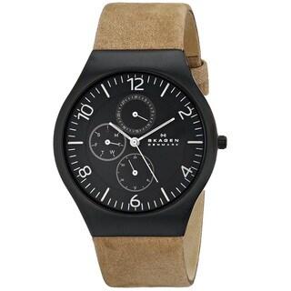 Skagen Men's Grenen SKW6114 Brown Leather Quartz Watch