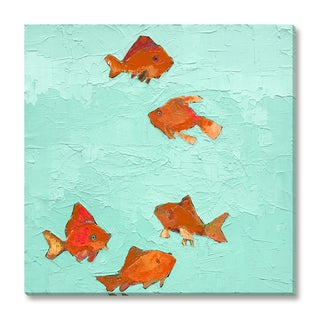 Gallery Direct Trevor Mikula's 'Swimming Goldfish' Gallery Wrapped Canvas