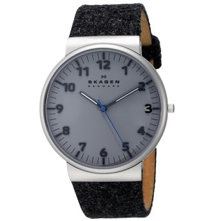 Skagen 'Ancher' Men's Stainless Steel and Felt fabric SKW6097 Watch