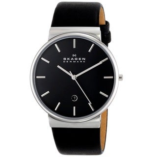 Skagen 'Ancher' Men's Stainless Steel and Leather SKW6104 Watch