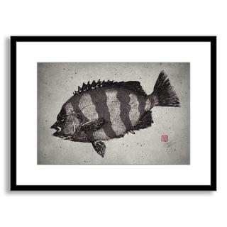 Gallery Direct Dwight Hwang's 'Striped Knifejaw' Framed Paper Art