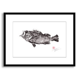 Gallery Direct Dwight Hwang's 'Armor Clad Rockfish' Framed Paper Art