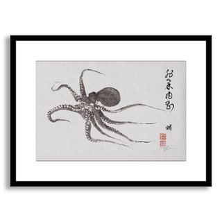 Gallery Direct Dwight Hwang's 'Flying Octopus Calligraphy' Framed Paper Art