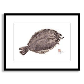 Gallery Direct Dwight Hwang's 'Flounder Fluke' Framed Paper Art