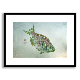 Gallery Direct Dwight Hwang's 'Parrot Fish' Framed Paper Art