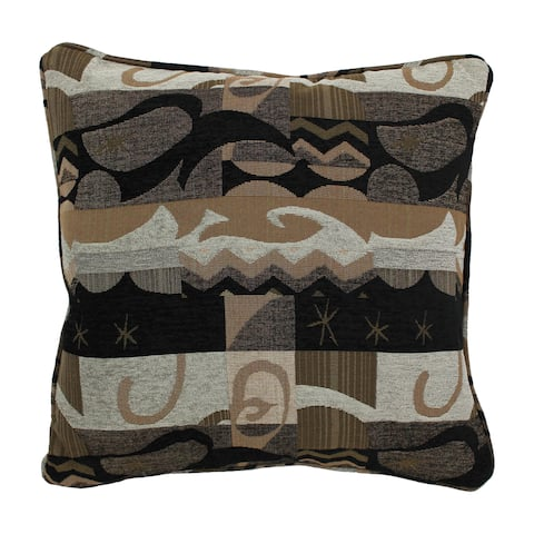 Blazing Needles 25-inch 'Elysian Fields' Jacquard Chenille Square Throw Pillow with Insert