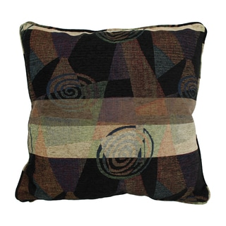 Blazing Needles 25-inch 'Dark Side of the Moon' Jacquard Chenille Square Floor Pillow with Insert