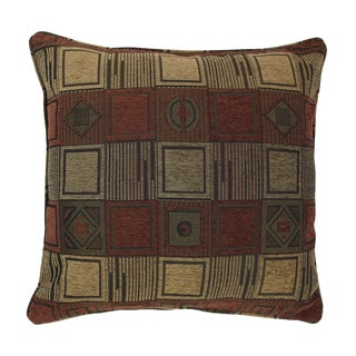 Blazing Needles 25-inch 'Manhattan' Jacquard Chenille Square Floor Pillow with Insert