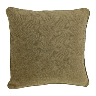 Blazing Needles 25-inch 'Champagne' Jacquard Chenille Square Throw Pillow with Insert
