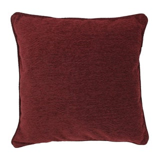 Blazing Needles 25-inch 'Bordeaux' Jacquard Chenille Square  Throw with Insert