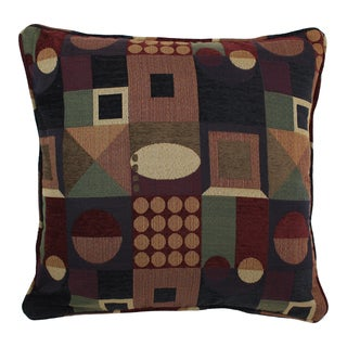 Blazing Needles 25-inch 'Kaleidoscope' Jacquard Chenille Square Floor Pillow with Insert