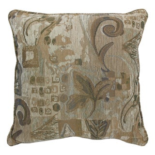 Blazing Needles 25-inch 'Wind Song' Jacquard Chenille Square Floor Pillow with Insert
