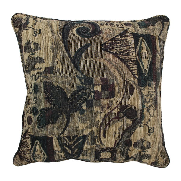 Shop Blazing Needles 40inch 'Antiquity' Jacquard Chenille Square Amazing Square Floor Pillow Insert