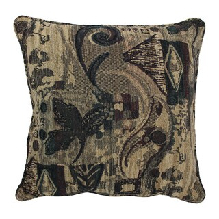 Blazing Needles 25-inch 'Antiquity' Jacquard Chenille Square Floor Pillow with Insert