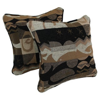 Blazing Needles 18-inch Elysian Fields Throw Pillows (Set of 2)