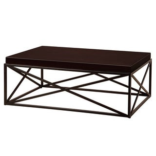 Casual Metal and Wood Cocktail Table