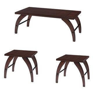 Dark Walnut 3 Pack Occassional End Table Set