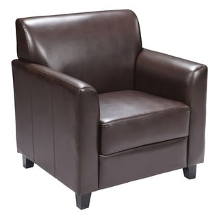 Offex OF-BT-827-1-BN-GG Hercules Diplomat Brown Leather Chair