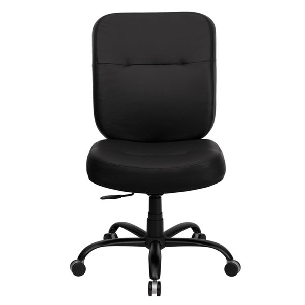 Offex Hercules 400 Pound Capacity And Tall Black Leather Office Chair With Extra Wide