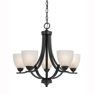 Value Collection 8002 Lumenno International Transitional 5-light Bronze Chandelier