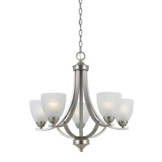 Lumenno International Value Collection 8001 Transitional 5-light Satin Nickel Chandelier