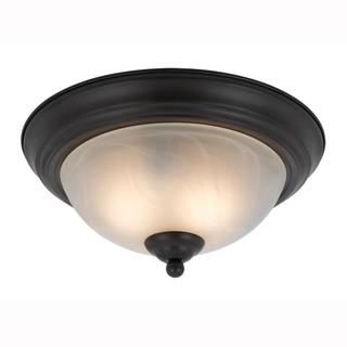 Value Collection 8002 Lumenno International Transitional 2-light Bronze Flush Mount