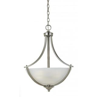 Value Collection 8001 Lumenno International Transitional 3-light Satin Nickel Pendant Light