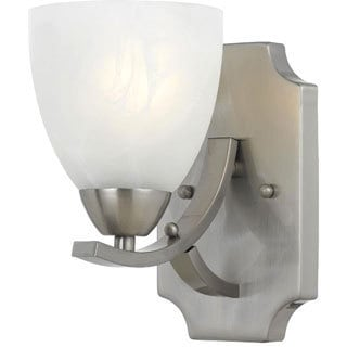 Value Collection 8001 Lumenno International Transitional 1-light Satin Nickel Wall Sconce/ Vanity Light