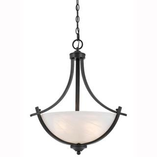 Value Collection 8002 Lumenno International Transitional 3-light Bronze Pendant Light