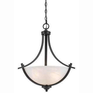 Value Collection 8002 Lumenno International Transitional 3-light Bronze Pendant Light