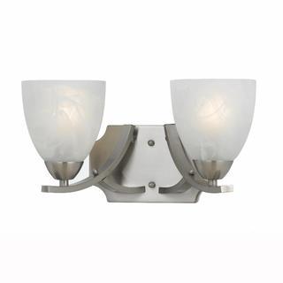 Value Collection 8001 Lumenno International Transitional 2-light Satin Nickel Wall Sconce/ Vanity Light