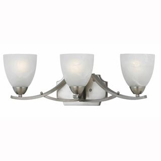 Value Collection 8001 Lumenno International Transitional 3-light Satin Nickel Vanity Light