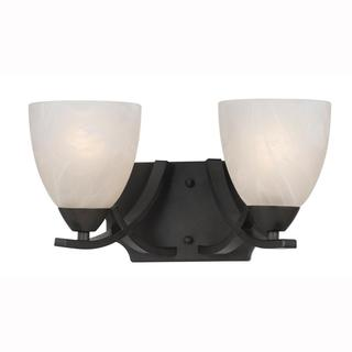 Value Collection 8002 Lumenno International Transitional 2-light Bronze Wall Sconce/ Vanity Light