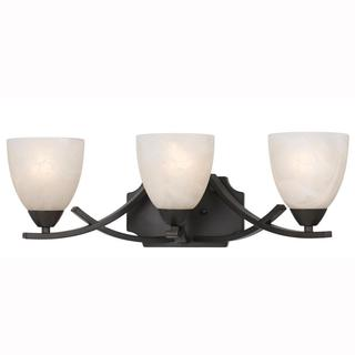 Value Collection 8002 Lumenno International Transitional 3-light Bronze Vanity Light