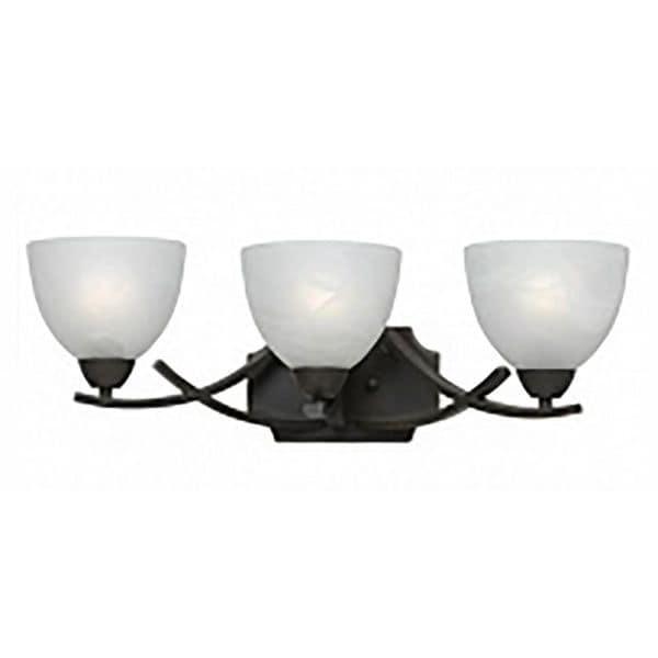Value Collection 8002 Lumenno International Transitional 3-light Bronze Vanity Light