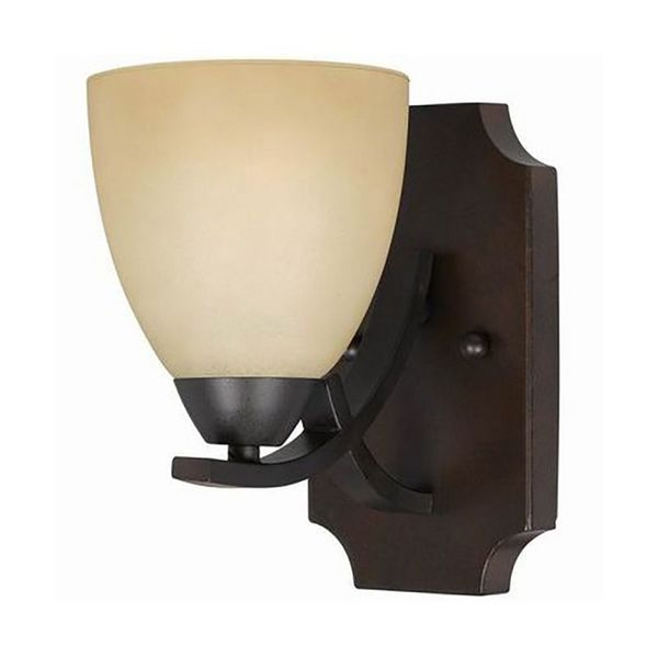 Value Collection Lumenno International Transitional 1-light Bronze Wall Sconce/ Vanity Light ...