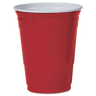 SOLO® Cup Company Plastic Party Cold Cups, 16oz, Red, 50/Pack