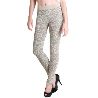 Nikibiki Stone Floral Lace Print Ankle-length Leggings