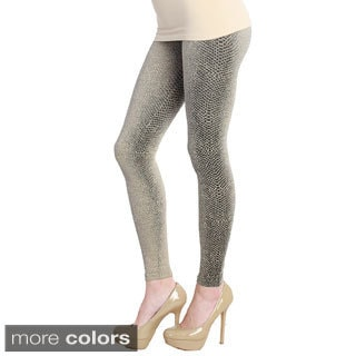 Nikibiki Women's Snake Skin Ankle Length Leggings