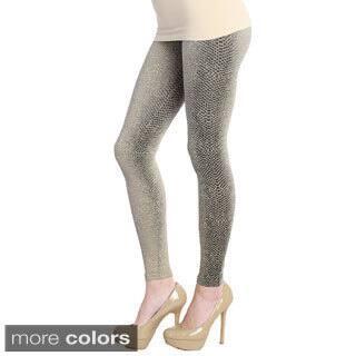 Nikibiki Women's Snake Skin Ankle Length Leggings (Option: Beige) https://ak1.ostkcdn.com/images/products/9741371/P16915442.jpg?impolicy=medium