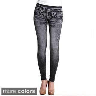 Nikibiki Women's Denim Look Ankle Length Leggings